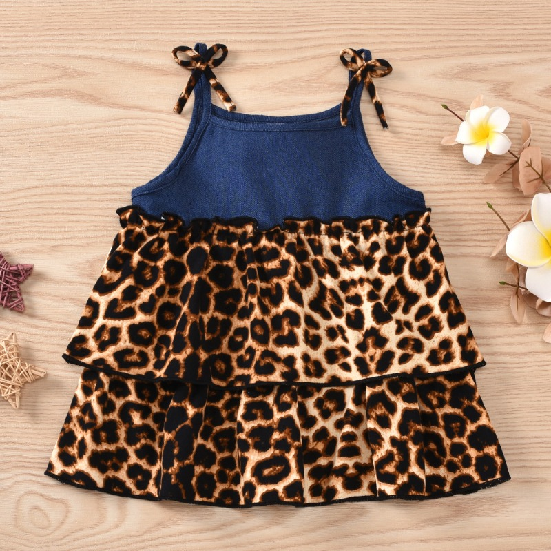 Girls Dress lovely Stylish Leopard Print Girl Mini Dress фото