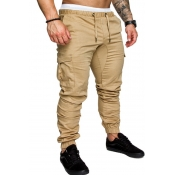 Lovely Casual Drawstring Khaki Pants