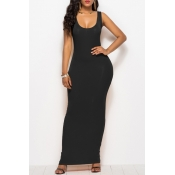 lovely Casual Basic Black Ankle Length Plus Size D