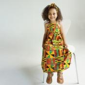 lovely Bohemian Spaghetti Print Multicolor Girls D