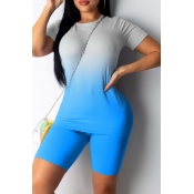 lovely Casual Gradual Change Skyblue Two-piece Sho