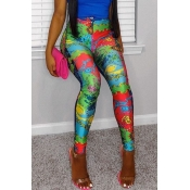 lovely Casual Print Multicolor Pants