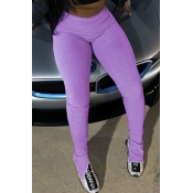 lovely Casual Skinny Purple Leggings