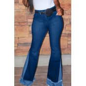 Lovely Stylish Patchwork Blue Jeans