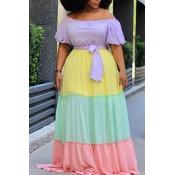 Lovely Bohemian Color-lump Patchwork Multicolor Ma