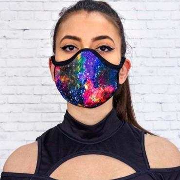 Lovely Stylish Print Multicolor Face Mask