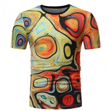 lovely Leisure O Neck Print Multicolor T-shirt