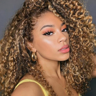 lovely Trendy Long Curly Brown Wigs
