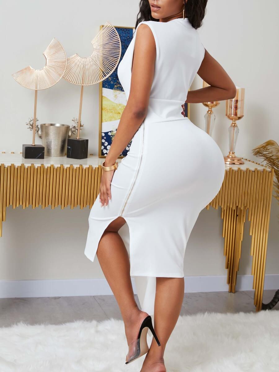 LW Stylish Asymmetrical Prom Dress