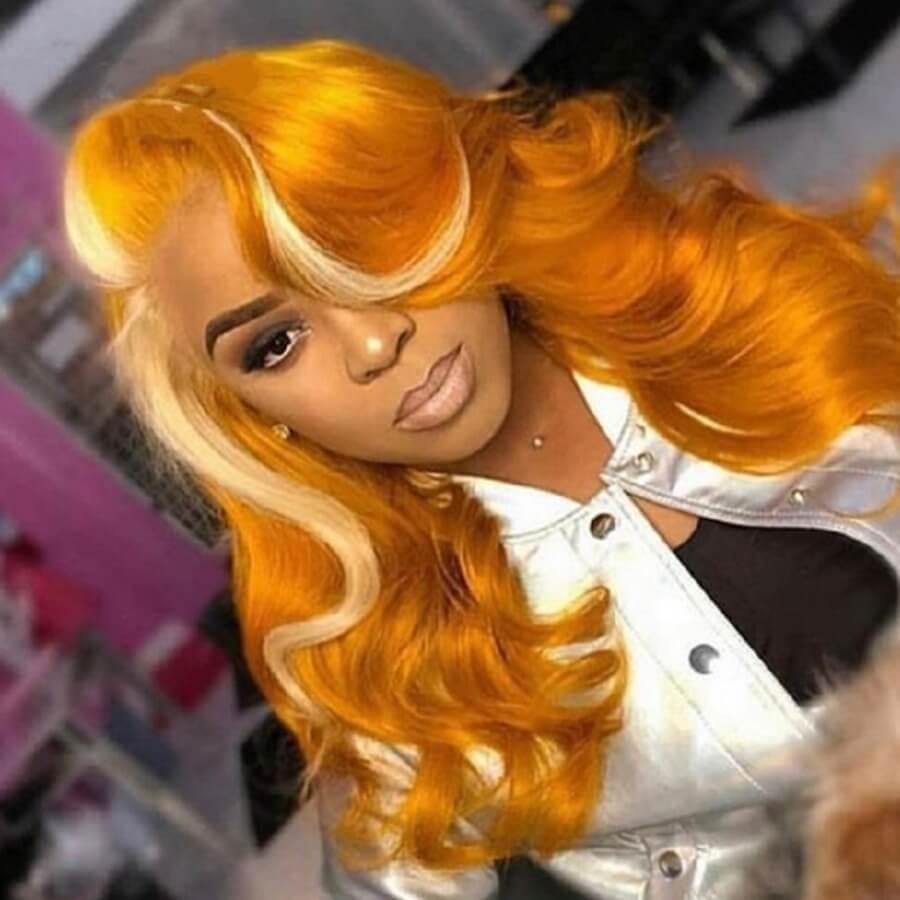 Lovely Stylish Curly Orange Wigs фото