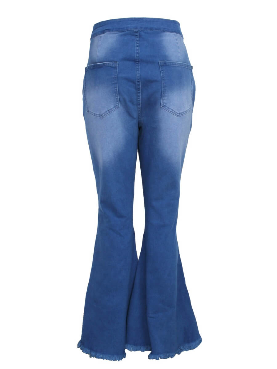 LW BASIC Plus Size Casual  Blue Jeans