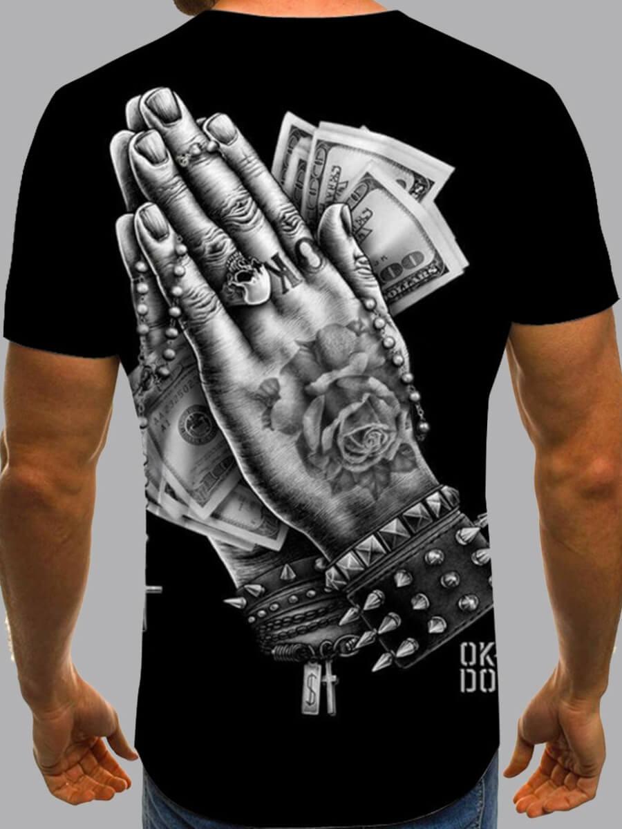 LW Men Figure Money Print T-shirt