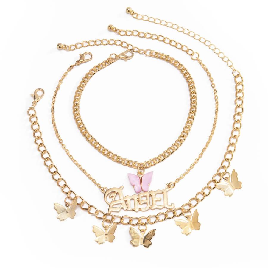 Lovely Stylish Butterfly Gold Body Chain