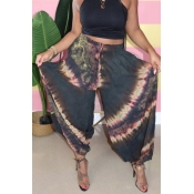 lovely Casual Print Loose Black Pants
