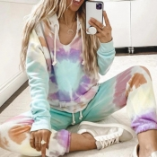 lovely Sportswear Tie-dye Multicolor Loungewear