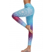 lovely Sportswear Print Blue Pants