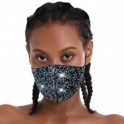 lovely Rhinestone Decorative Multicolor Face Mask