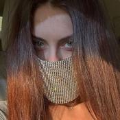 lovely Rhinestone GoldFace Mask