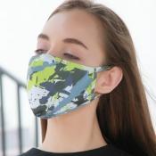 lovely Print Green Face Mask