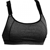 lovely Sportswear Patchwork Grey Bras