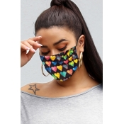 Lovely Heart Multicolor Face Mask