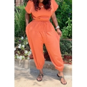 lovely Stylish Backless Jacinth One-piece Jumpsuit