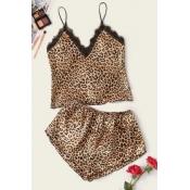 lovely Sexy Leopard Print Sleepwear