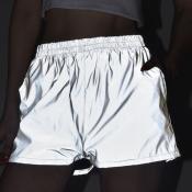 lovely Street Basic Grey Shorts