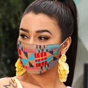 lovely Print Brown Face Mask