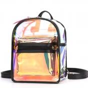 lovely Casual Zipper Design Black Backpack