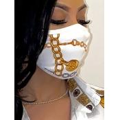 lovely Print White Face Mask