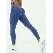 lovely Sportswear High-waisted Skinny Blue Pants