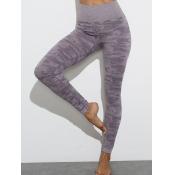 lovely Sportswear High-waisted Skinny Purple Pants
