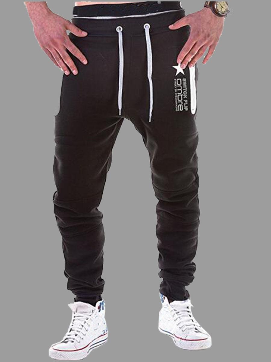 lovely Sportswear Drawstring Black Men Pants