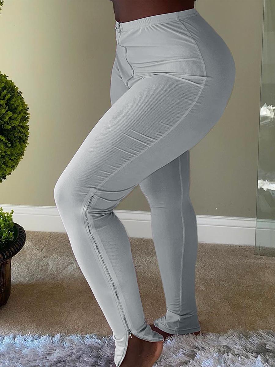 Lovely Casual Basic Skinny Grey Pants фото