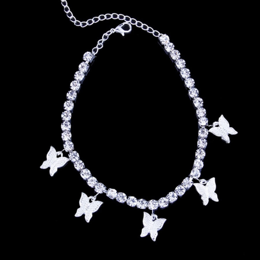 Lovely Stylish Butterfly Silver Body Chain