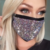 lovely Hot Drilling Decorative Black Face Mask