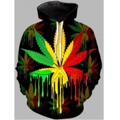 lovely Bohemian Hooded Collar Print Multicolor Men Hoodie