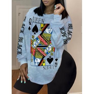 Lovelywholesale coupon: LW BASICS Plus Size O Neck Print Grey Shorts Set