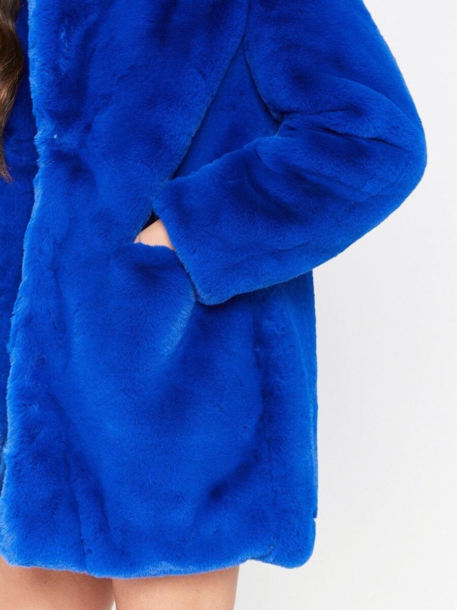 lovely Stylish Basic Loose Blue Wool