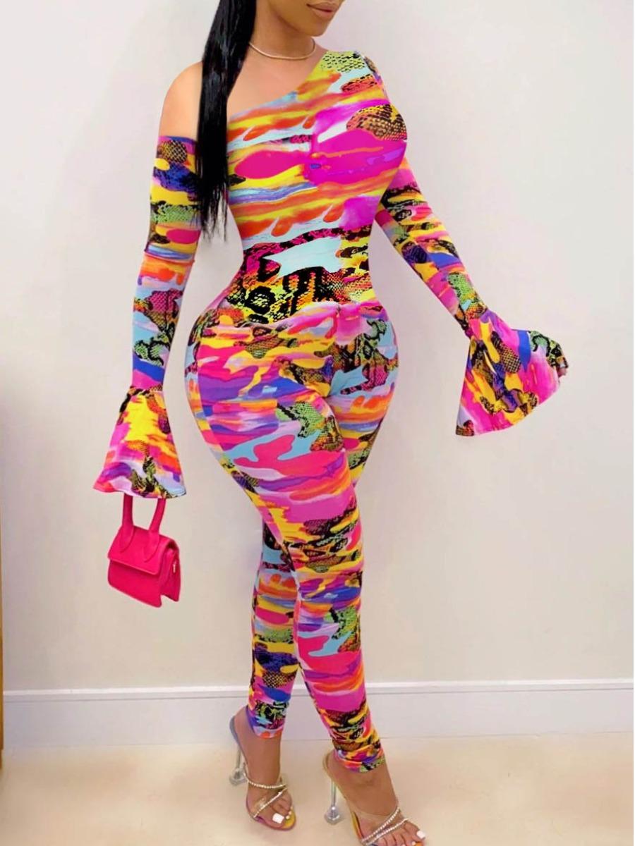 LW Camo Print Skinny Jumpsuit