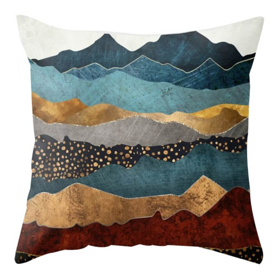 lovely Cosy Print Blue Decorative Pillow Case