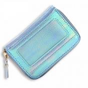 lovely Trendy Zipper Design Blue Coin Purses
