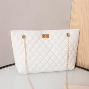 lovely Casual Chain Strap White Crossbody Bag