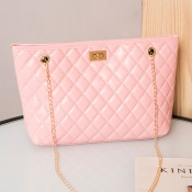 lovely Casual Chain Strap Pink Crossbody Bag