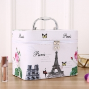 Lovely Chic Print White Makeup Bag