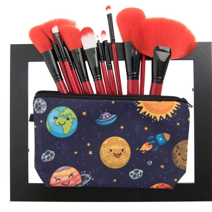 Lovely Trendy Print Multicolor Makeup Bag