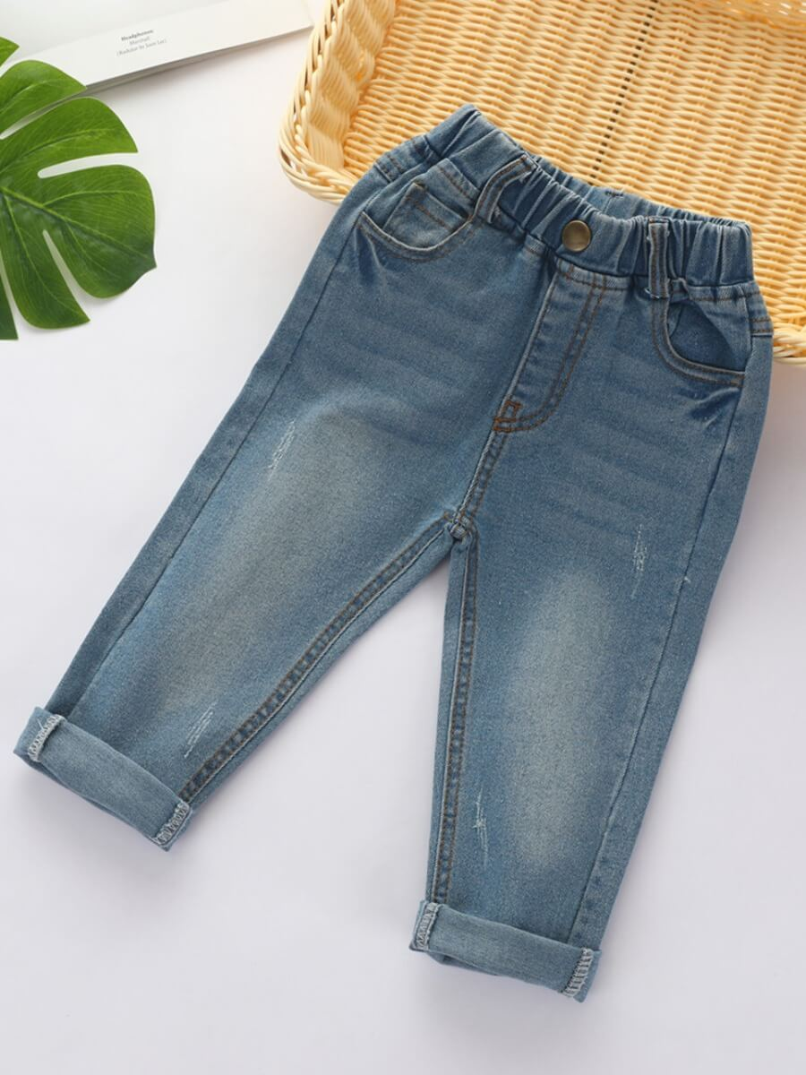 Lovely Casual Basic Baby Blue Boy Jeans