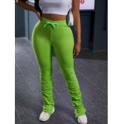 Lovely Stylish Basic Skinny Green Pants