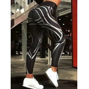 lovely Street Print Skinny Black Leggings
